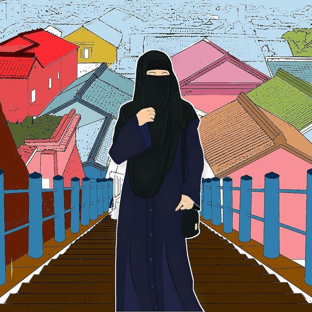 Pin oleh س di Muslim anime di 2019 Hijab, Muslim, dan Kartun