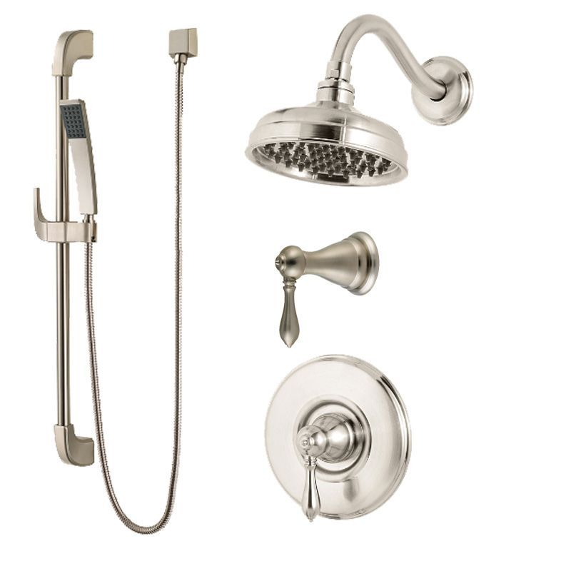 Pfister B89-7MB Marielle Shower System with Valve Trim Shower Head ...
