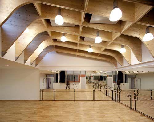 Timber test: Regis Racine Gymnasium Drancy, Paris, by Alexandre Dreyssé.: