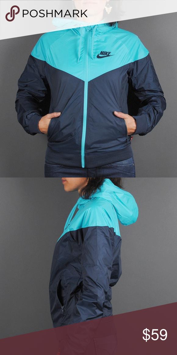 2a8236ca7f08 ... brand new 3832c 8c18d Brand New Nike Womens TealNavy Windrunner Jacket  Nike WindbreakerRain Jacket - ...
