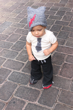 Love this little boy tie outfit.