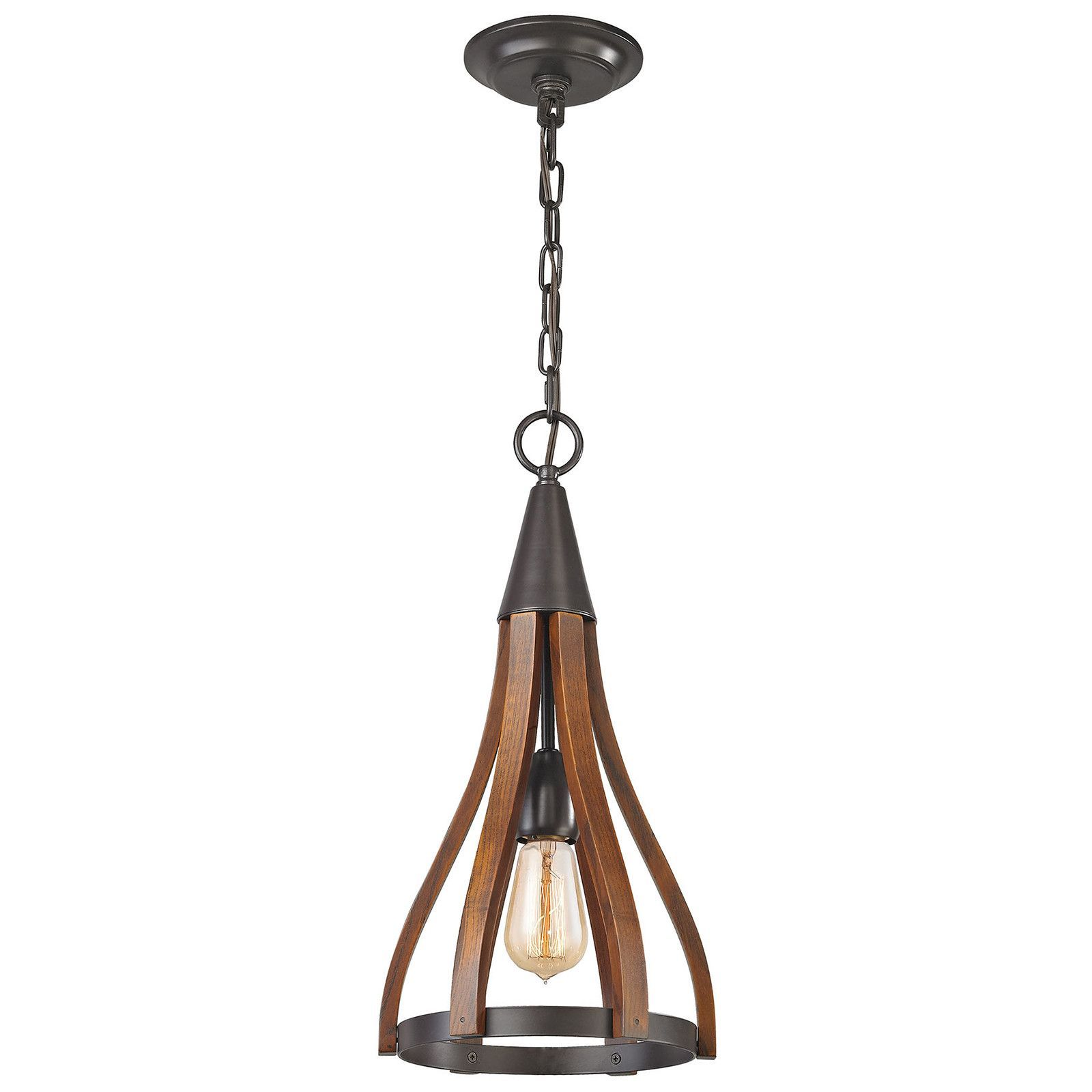 Wood arches light pendant in oil rubbed bronze products