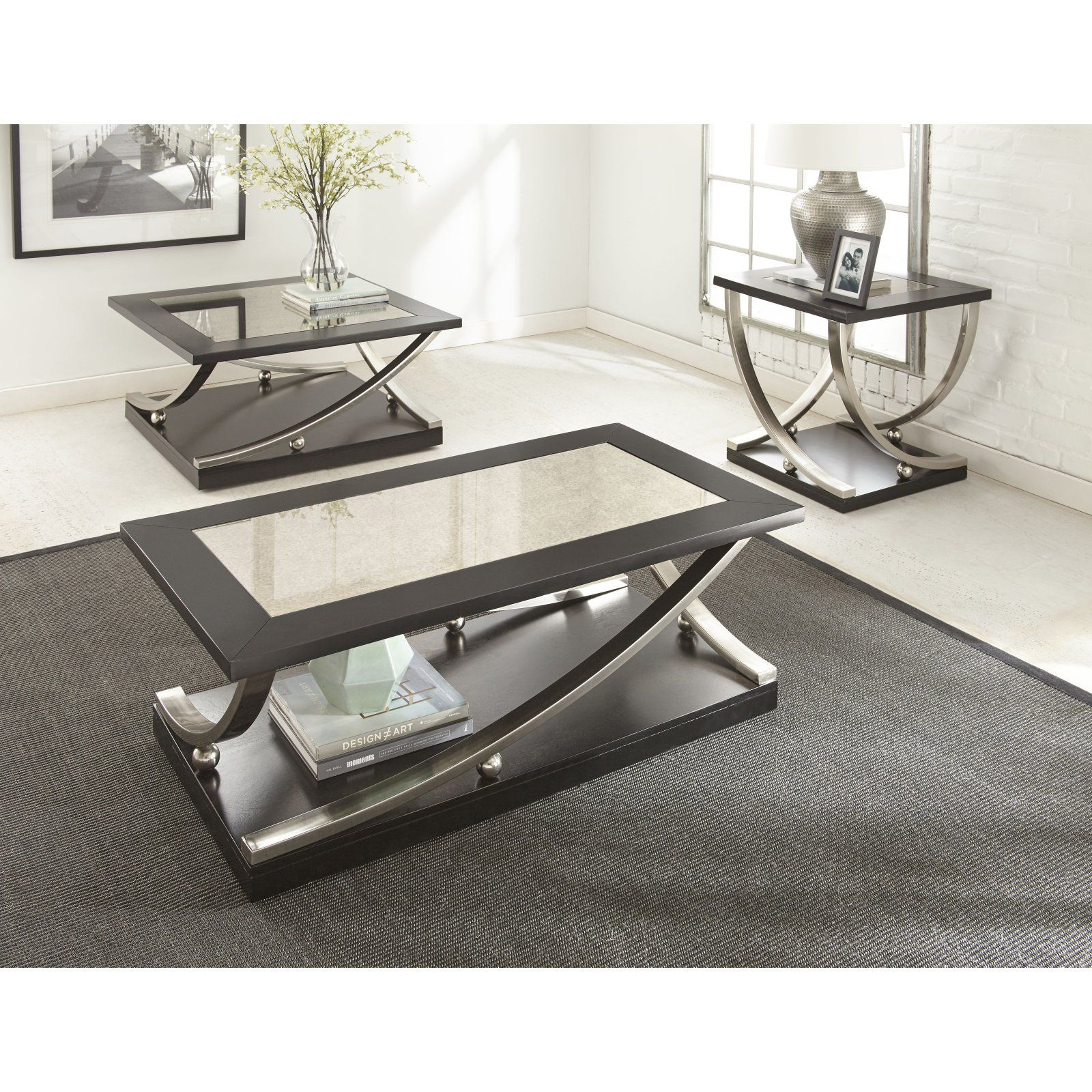 Steve Silver Ramsey Square Cocktail Table Coffee Table Square Cocktail Table 3 Piece Coffee Table Set [ 1600 x 1600 Pixel ]