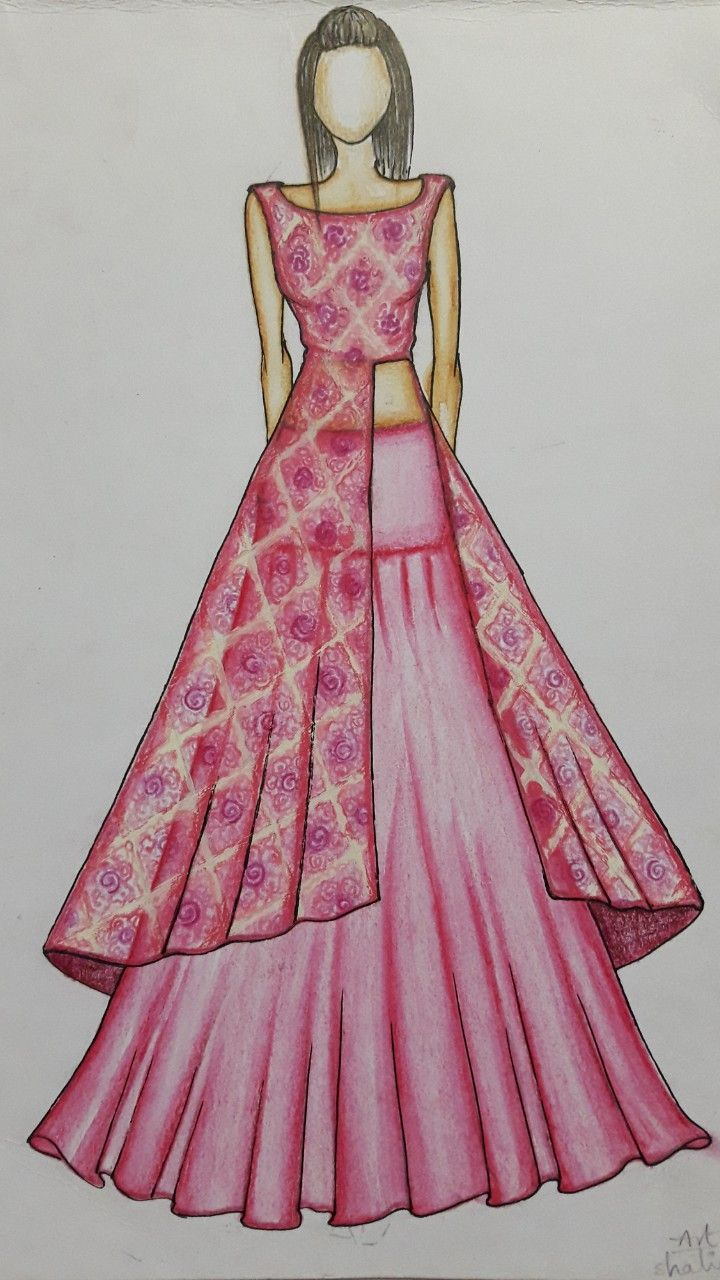 Yock with skirt n designer kurti | Sketch | Pinterest | Bocetos ...