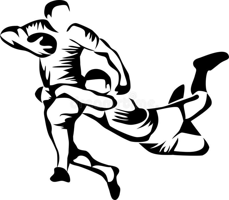 Illustration About Rugby Players Stylized Black Illustration Illustration Of Sporting Football Game 57608 Rugby Players Rugby Drawing Rugby Illustration