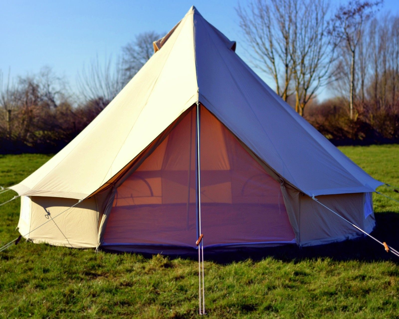 5m Ultimate ZIG Canvas Bell Tent Camping Pinterest
