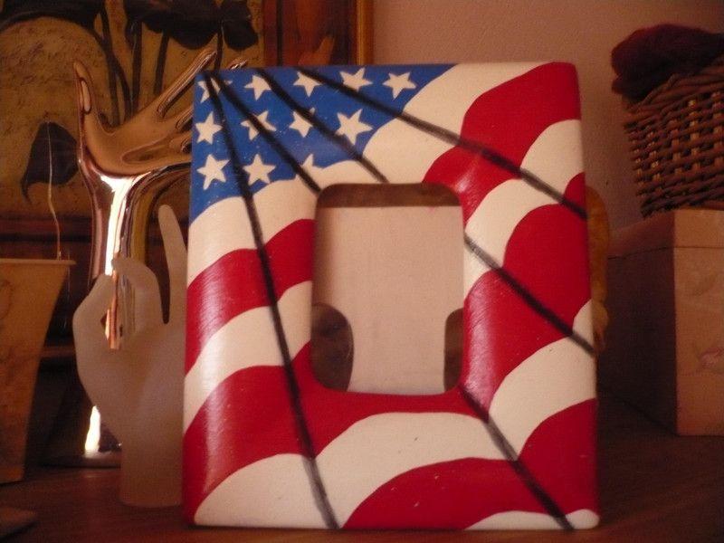 Keramik-Bilderrahmen mit USA Flagge von Ellis.hobbies auf DaWanda ...