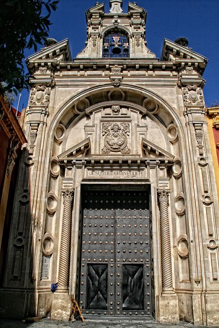 Puerta de la Basilica Menor Jesus del Gran Poder ( Sevilla ) España