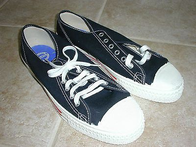 24ac06f0a4f21 Vintage Men's Red Ball Jets Canvas Sneakers Black 1960's NIB USA M 9 ...