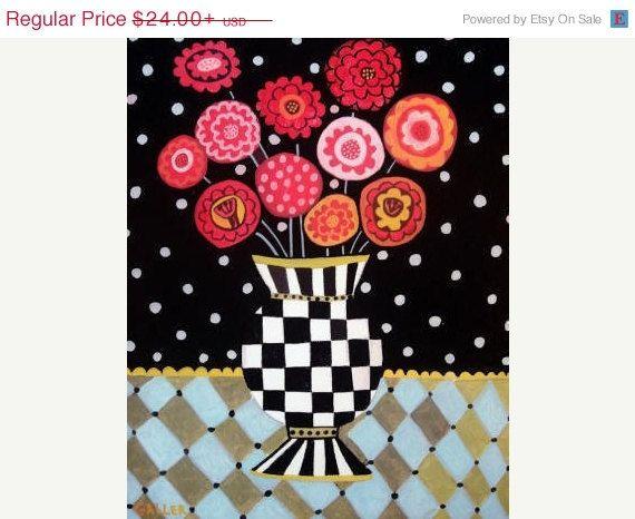 Surprise 50% Off Sale- Flower Art Floral art Art Print Poster by Heather Galler (HG432)