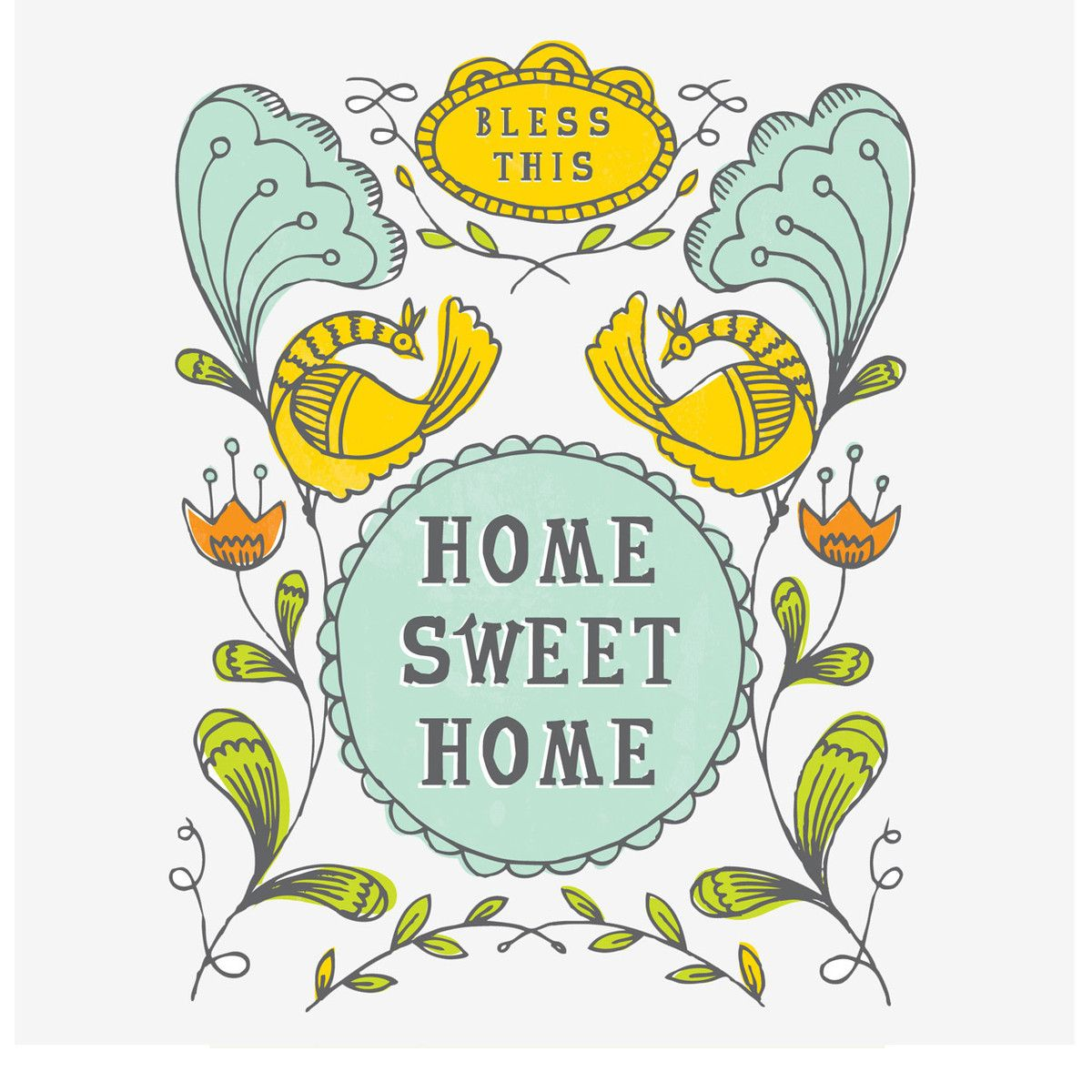 Bless This Home Sweet Home Print  by Spread The Love