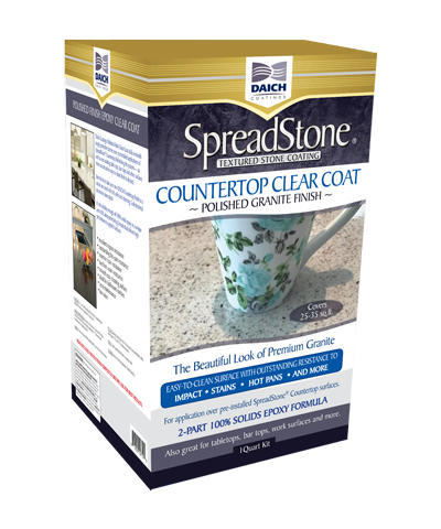 Spreadstone Polished Countertop Clear Coat Epoxy Countertop