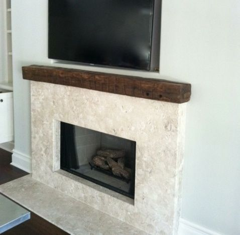Reclaimed Wood Mantel Shelf (not The Rest) Fireplace Makeover - Reclaimed Wood Mantel WB Designs