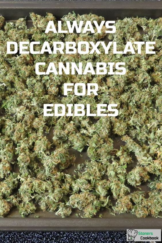 Always decarboxylate cannabis when making edibles. This is done by heating cannabis in the oven in order to convert THCA to THC. This step is necessary to feel the effects of edibles. #decarboxylation #makingedibles #cannabisrecipes