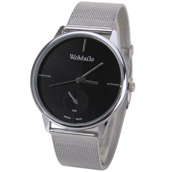 WoMaGe Quartz Watch with Strips Indicate Steel Watch Band for Men #>=#>=#>=#>=#> Click on the pin to check out discount price, color, size, shipping, etc. Save and like it!