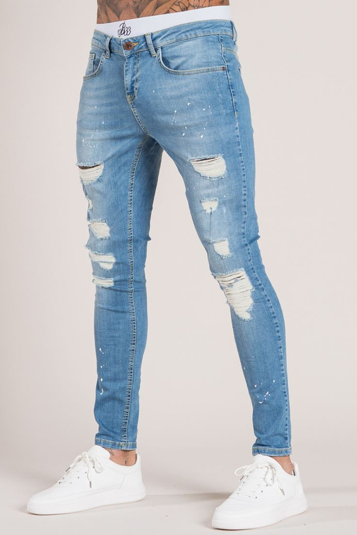 Wrangler Men S Relaxed Fit Jeans With Flex Ripped Jeans Men Jeans Outfit Men Blue Jeans Outfit Men