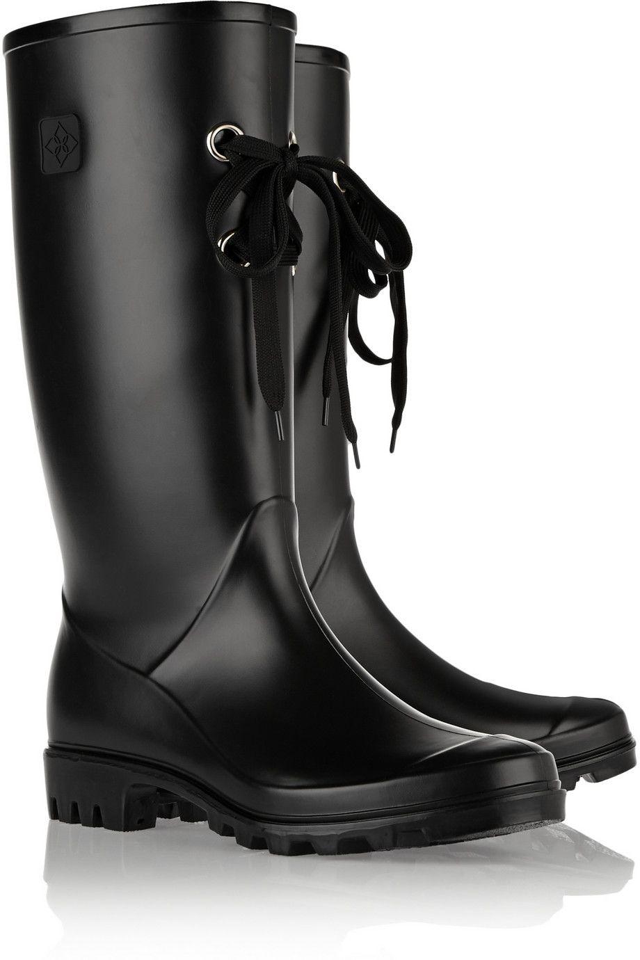 DävLug Lace rubber rain boots