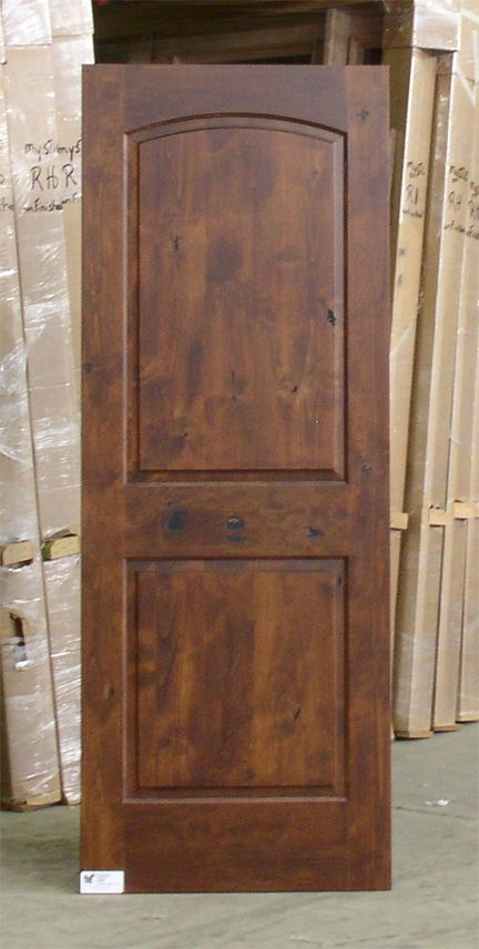 American walnut stained cabinets panel knotty alder interior doors model isw p802 home - Stain inside of cabinets ...