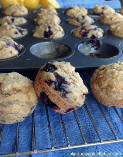 Bf Blueberry Muffins From Let Them Eat Vegan By Dreena