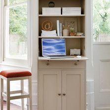 Need a slimline desk space with lots of storage? This one has it and can be painted in any of our standard colours or your own.  Find all our home office furniture here: http://www.thedormyhouse.com/catalogue/home-office