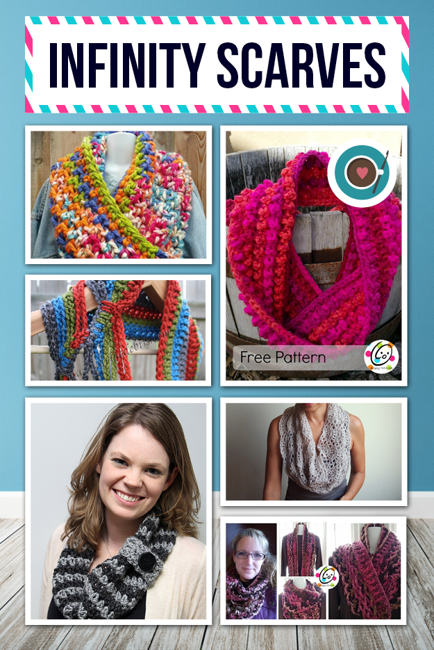 Lots of **FREE** crochet scarf patterns and a few paid patterns
