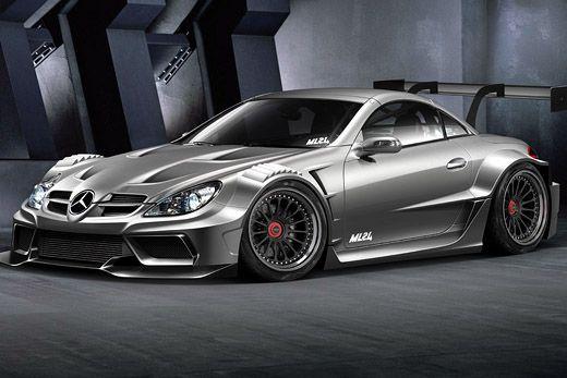 Ml24 Mercedes Benz Slk R171 Wide Body Kit Concept Design With