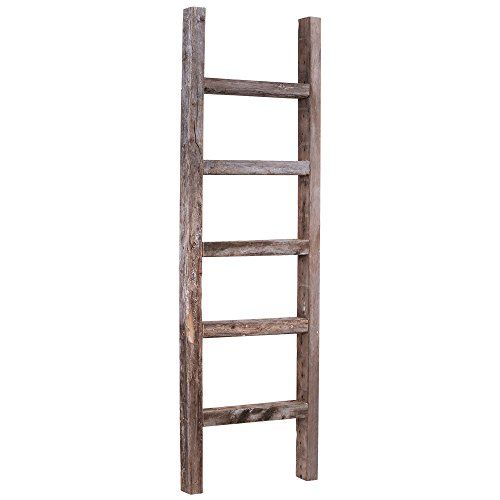 Barnwoodusa 4 Ft Decorative Wooden Ladder 100 Reclaimed Wood Barnwoodusa Ladder Decor Wooden Ladder Old Wooden Ladders