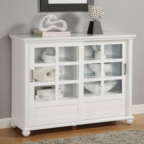 Ameriwood buffetbookcase with sliding doors white living room ameriwood buffetbookcase with sliding doors white living room pinterest buffet doors and glass doors planetlyrics