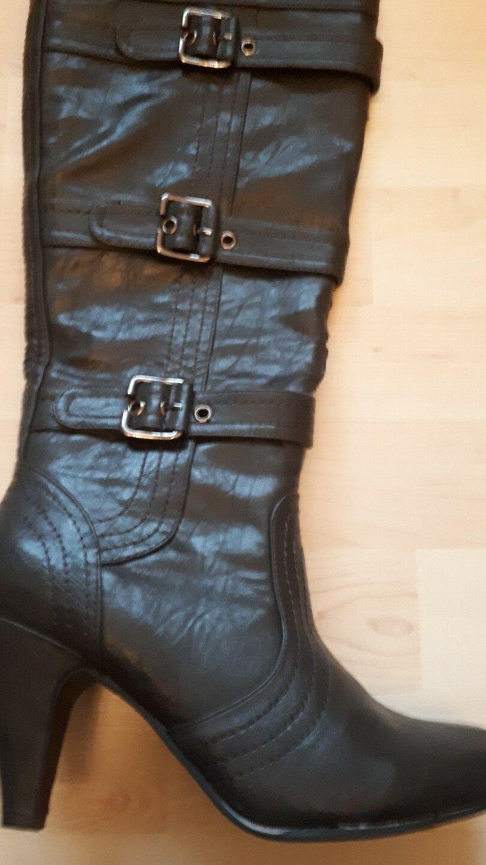 Schwarze hohe Stiefel in 38
