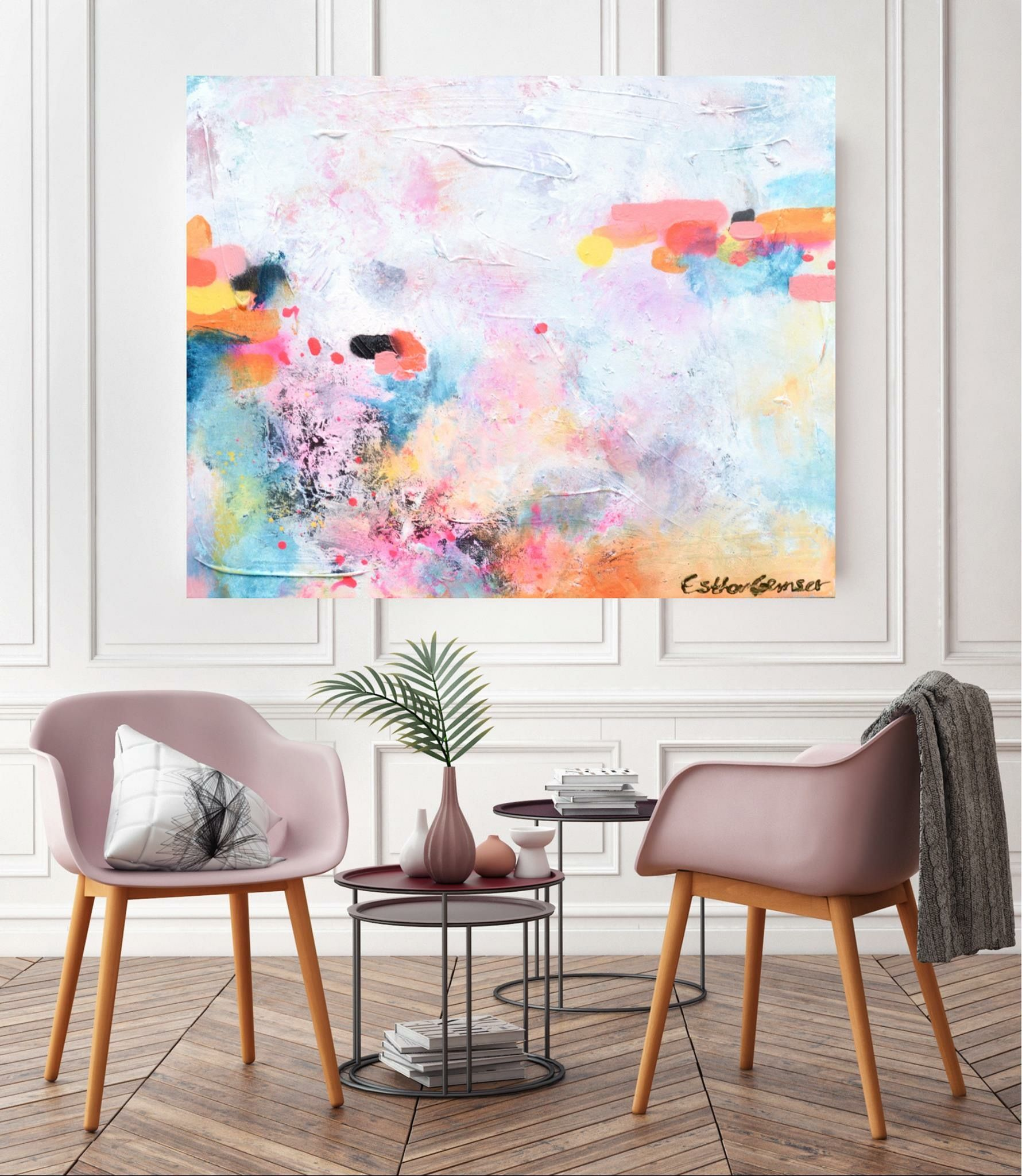 Mooi modern huis woonkamer schilderij Schilderij woonkamer