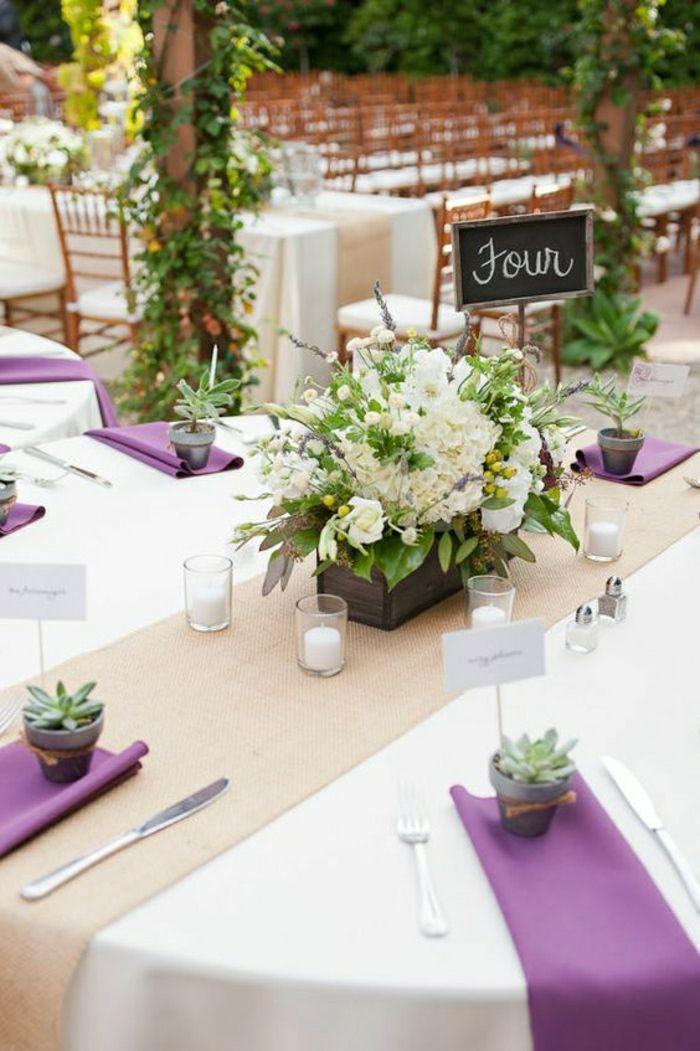 comment d corer le centre de table mariage 50 id es en photos et vid os chemins de table. Black Bedroom Furniture Sets. Home Design Ideas