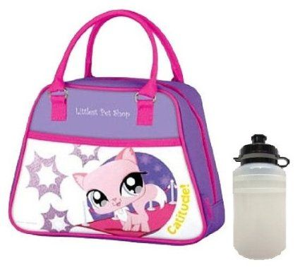 "Thermos Insulated Lunch Kit, Includes Sports Water Bottle, (Littlest Pet Shop ""Catitude!"")"
