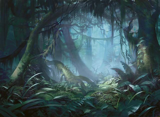 Image result for misty rainforest art