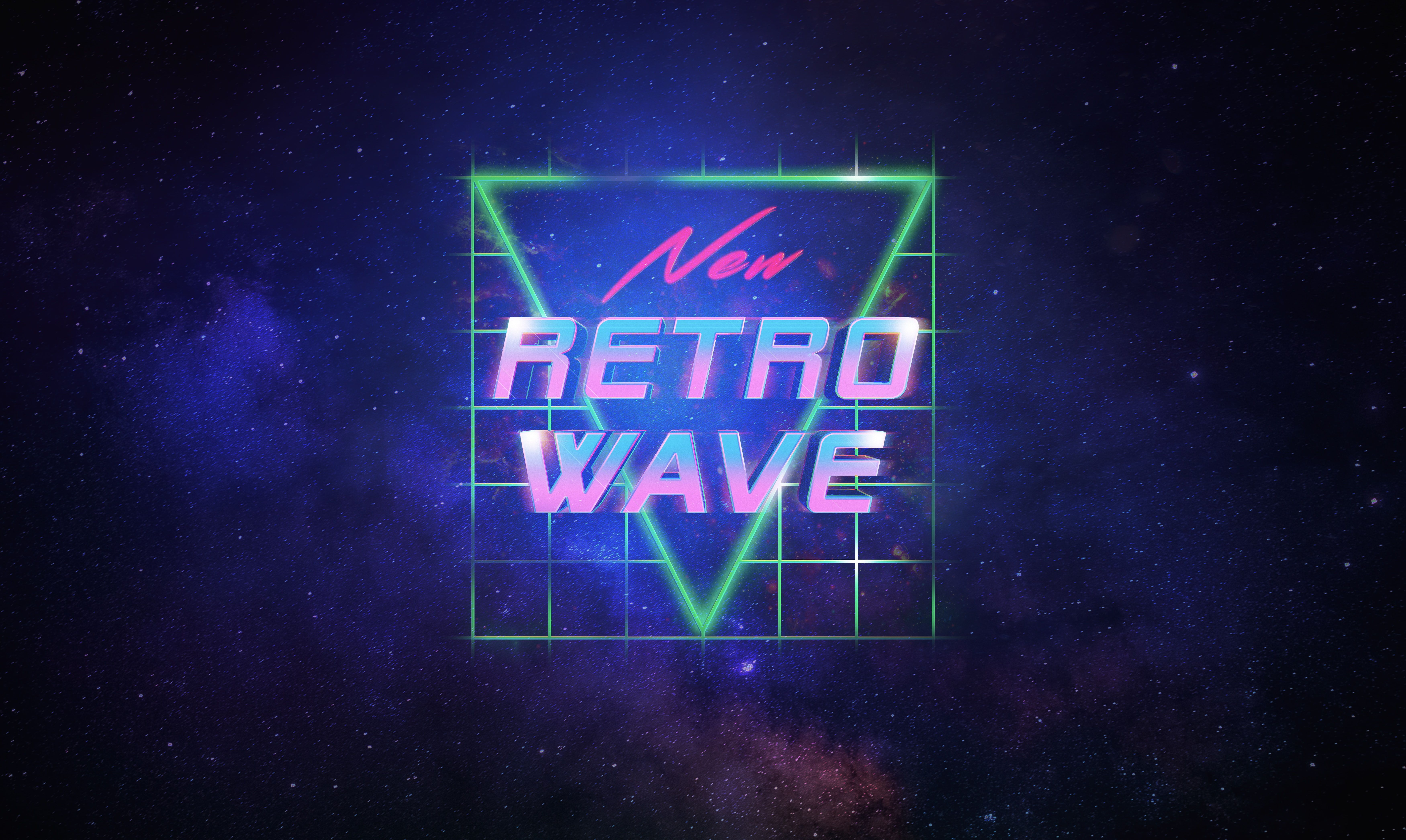 Stars Space Background Synthpop Synth Retrowave