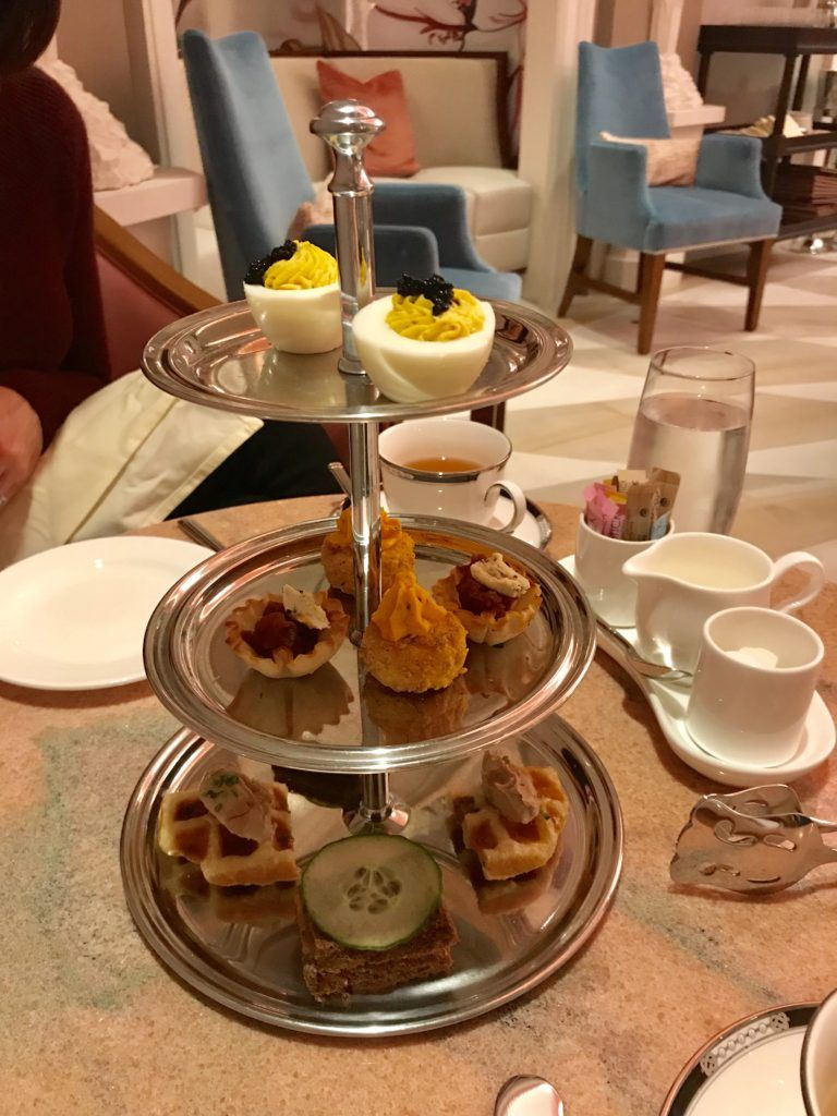Afternoon Tea At Camellias In Hotel Bennett Charleston Sc In