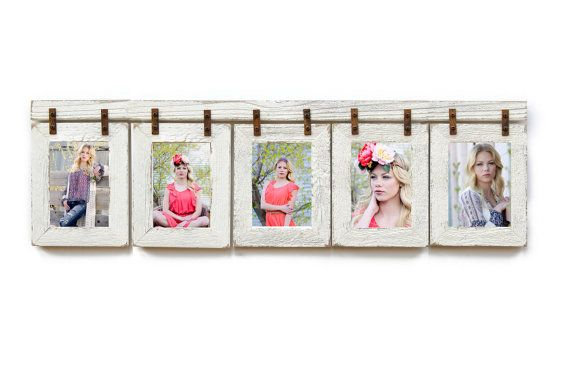Barnwood Collage Frame 5 Hole 5x7 Multi Opening Frame Rustic Picture