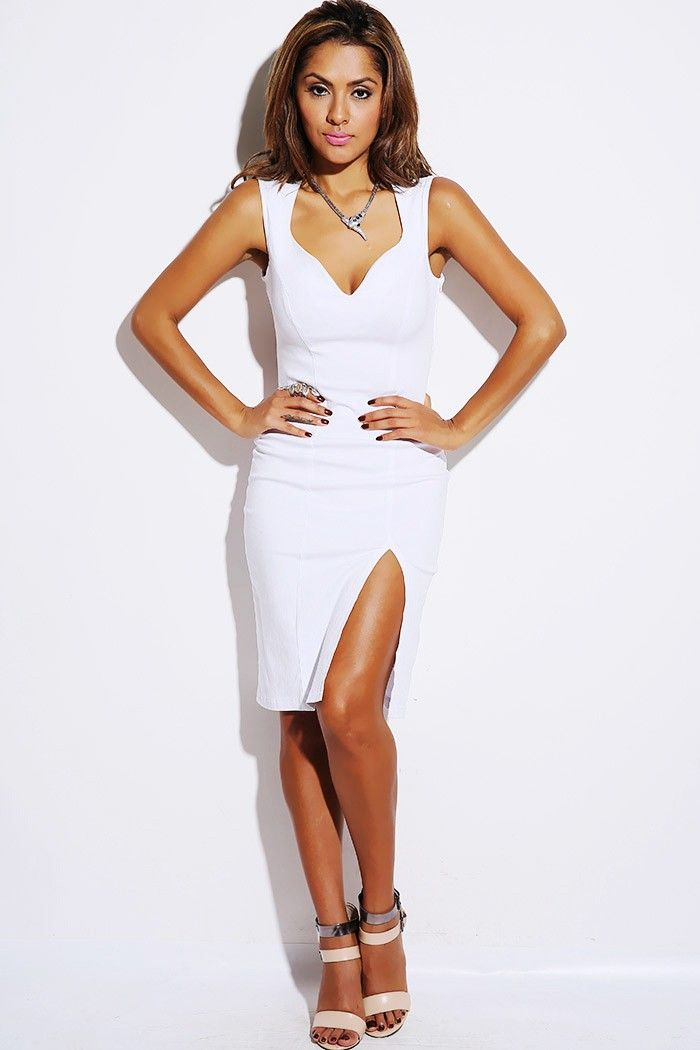 1015store.com #fashion #style bright white sweetheart neck high ...