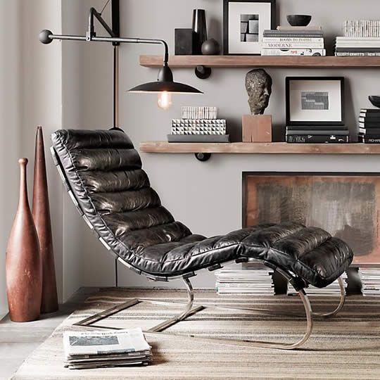 Chair design:I could spend hours reading in this chair!---The Oviedo Leather Chair perfectly bridges mid-century modern and 21st-century industrial design. ... More