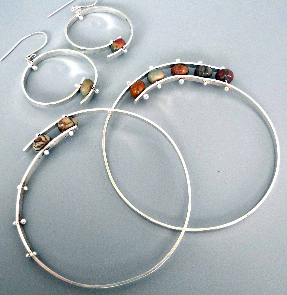 Bypass Bangle and Earrings with Debora Mauser. A contemporary way to ...