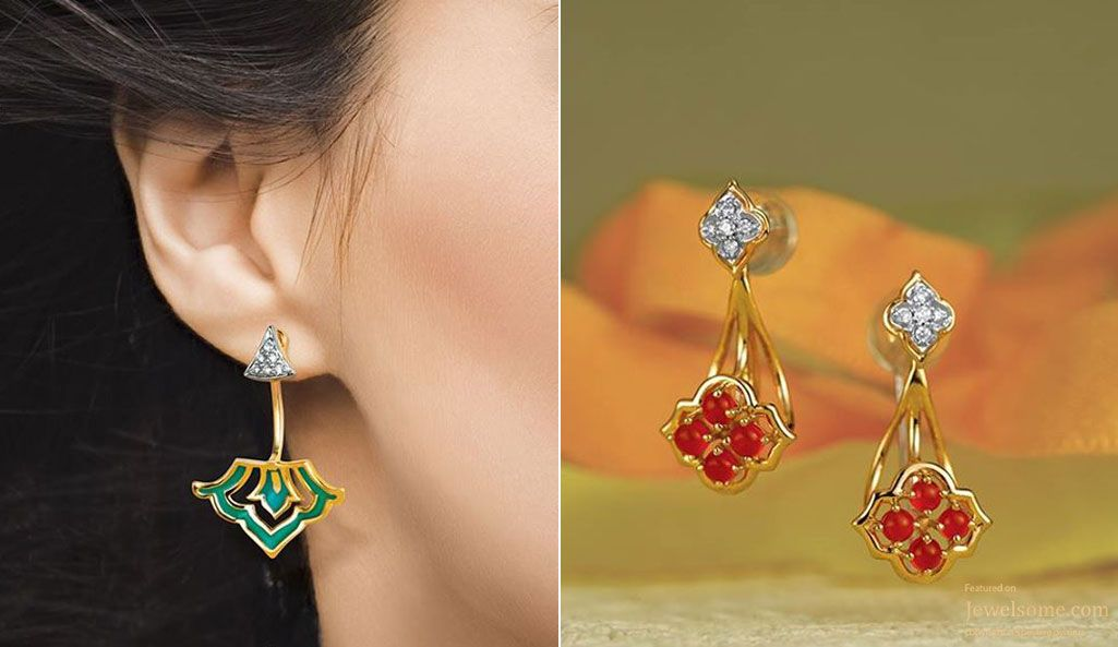 Colorful and trendy earring by #Tanishq #Jewellery | .I Like ...