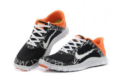 Nike Free 40 V3 Mens Shoes Black White Orange