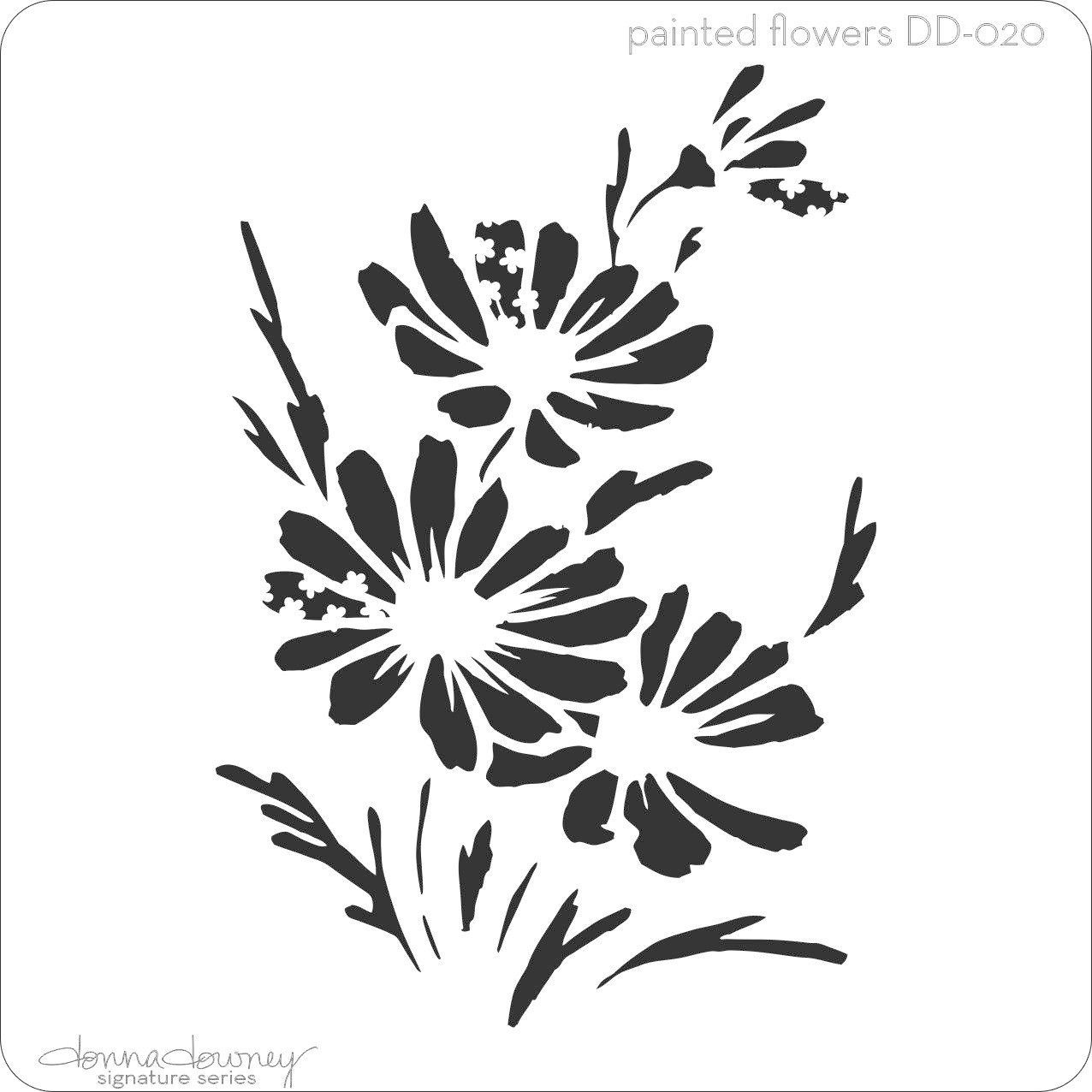poppy flower stencil - Google Search