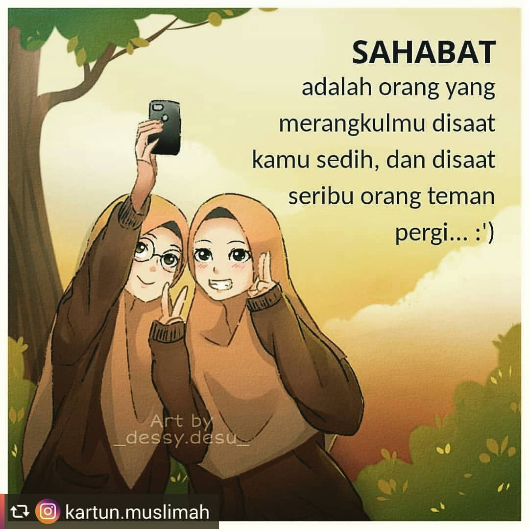 Instagram Media By Gamis Syarimurah In 2020 Anime Best Friends Anime Muslim Cartoon Quotes