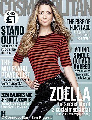 Zoella for Cosmopolitan UK magazine.