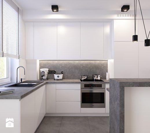 Aranzacje Wnetrz Kuchnia Nowoczesna Kuchnia W Bloku Wosmebl Rzeszow Meble Na Wymia Kitchen Furniture Design Modern Kitchen Furniture Kitchen Remodel Small