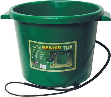 16 Gallon Heated Bucket Green Gallon Water Tub Tub
