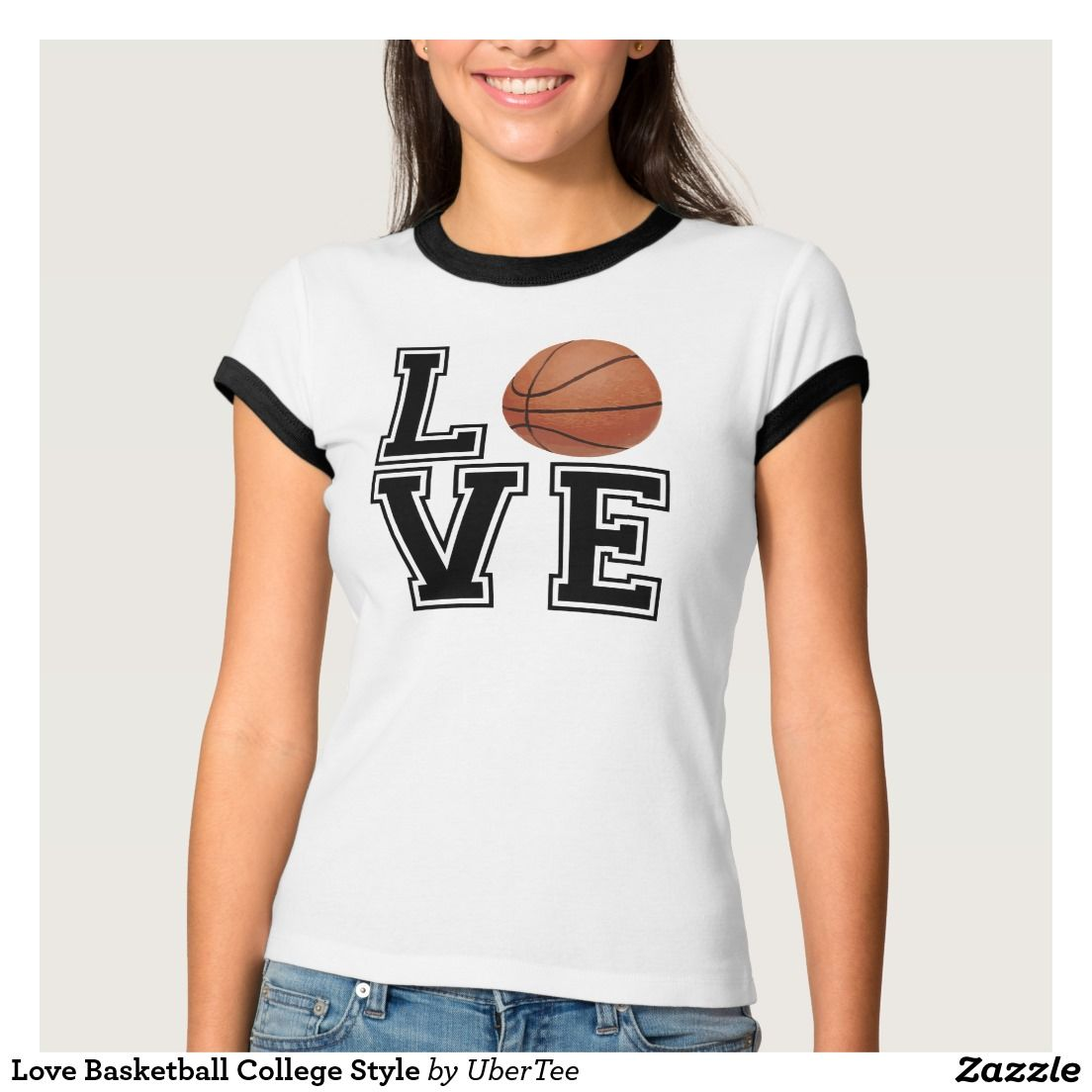 Love Basketball College Style T Shirt Zazzle Com College Fashion Fashion Tees Love And Basketball