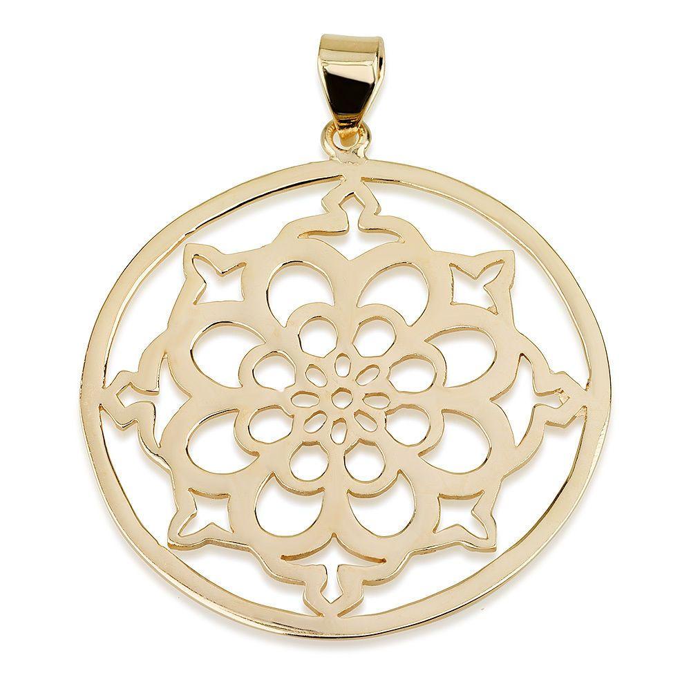 Mandala Flower Pendant Mandala Flower Jewelry Mandala Flower Necklace in rose gold Yoga Necklace Floral Necklace Mandala Jewelry