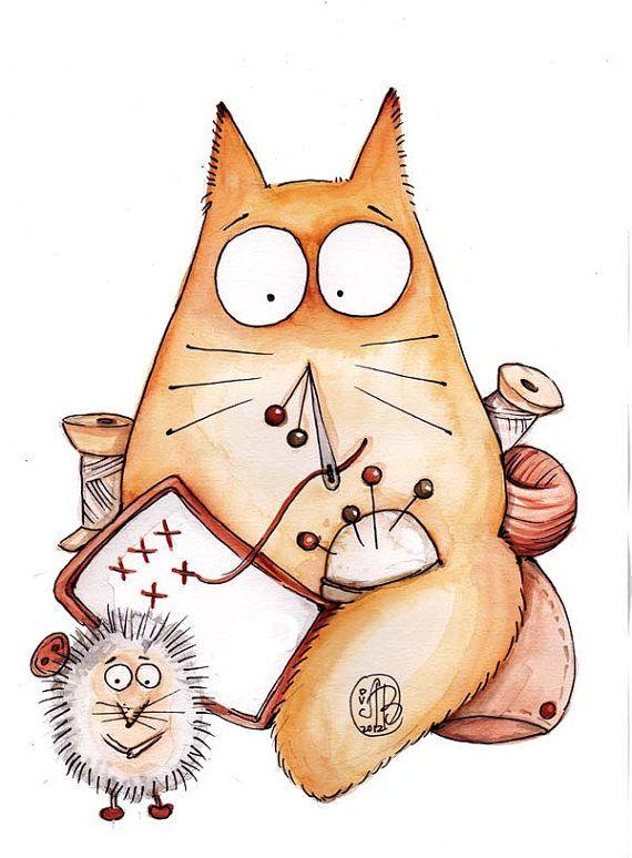 как рисовать смешных котов рисунки идет активное