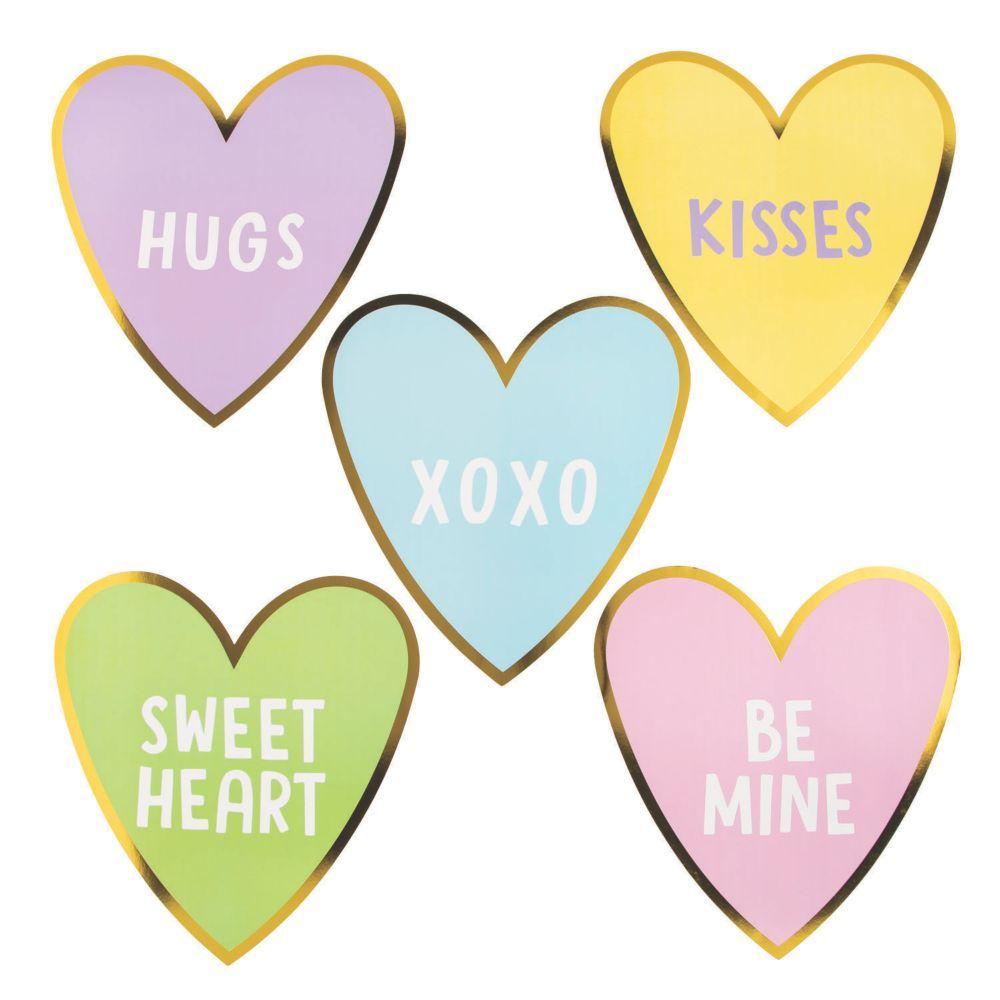 Valentine Conversation Heart Cutouts Oriental Trading Valentines Conversation Hearts Converse With Heart Conversation Hearts Crafts